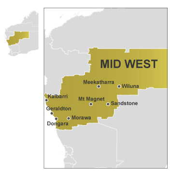 Mid West map